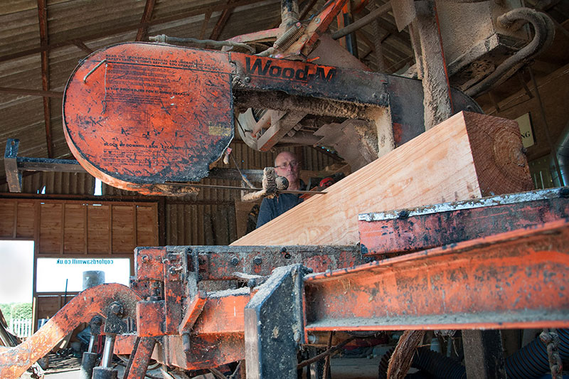 LT40 sawmill in action at English farm